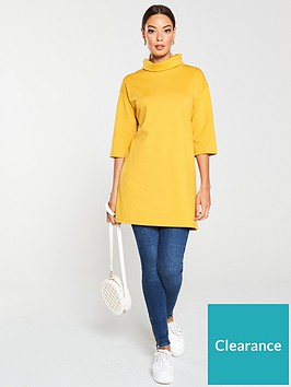 v-by-very-roll-neck-longline-top-ochre