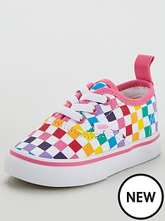 vans-authentic-elastic-lace-infant-trainers-rainbow