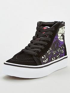 vans-childrens-sk8-hi-zip-nightmare-before-christmas-jacks-lament-high-tops-black