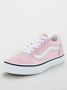 vans-old-skool-childrens-trainers-lilacwhite