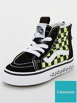 vans-sk8-hi-zip-toddler-trainers-blackgreen