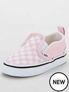 vans-slip-on-checkerboard-toddler-trainers-lilacwhite