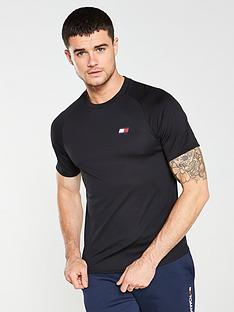 tommy-hilfiger-performance-back-logo-t-shirt-black