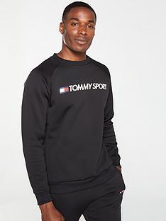 tommy-hilfiger-fleece-logo-crew-neck-sweat-black