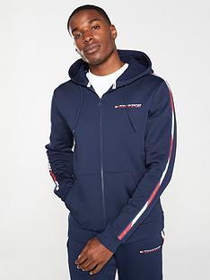 tommy-hilfiger-taped-full-zip-hoodie-navy
