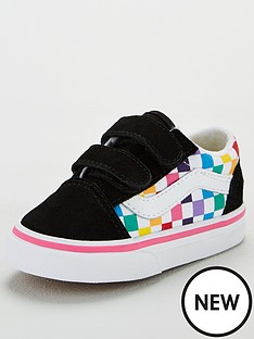 vans-old-skool-checkerboard-toddler-trainers-rainbow