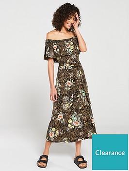 v-by-very-flower-print-jersey-midi-dress-brownfloral-print