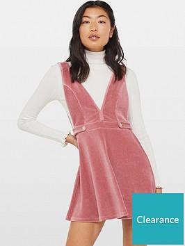 miss-selfridge-petite-jersey-cord-pinny-dress-pink