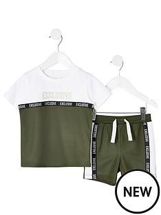 river-island-mini-mini-boys-mesh-t-shirt-and-short-outfit-khaki