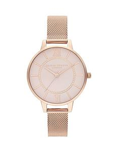 olivia-burton-olivia-burton-classic-blush-dial-pale-rose-gold-stainless-steel-mesh-strap-ladies-watch