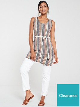 v-by-very-woven-belt-textured-tunic-stripe