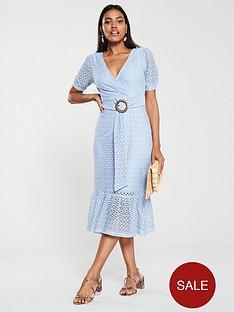 v-by-very-jersey-crochet-belted-midi-dress