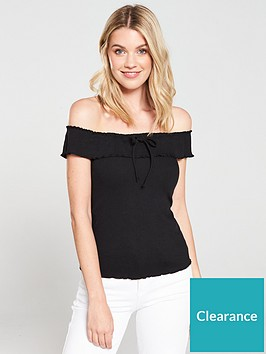 v-by-very-off-the-shoulder-ribbed-top-black