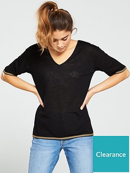 v-by-very-trim-detailnbspv-neck-top-black