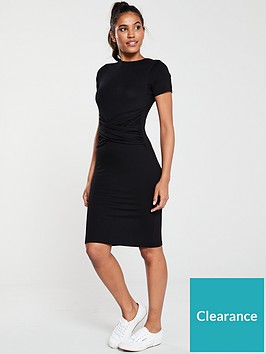 v-by-very-knotted-centre-jersey-dress-black