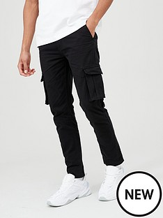 v-by-very-cargo-trousers-black