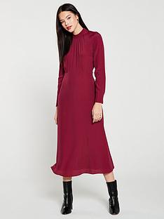whistles-ruby-high-neck-midi-dress-burgundy