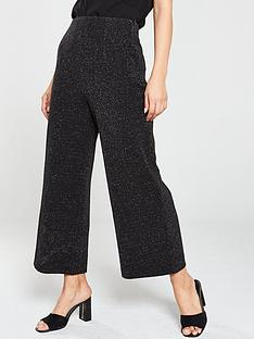 whistles-metallic-wide-leg-ponte-trousers-black