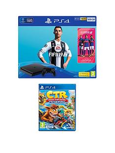playstation-4-fifa-19-ps4-500gb-bundle-with-crash-team-racing-nitro-fuelled-with-optional-extras