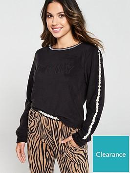 dkny-logo-and-zebra-fleece-jogger-pj-set