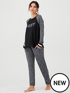 dkny-folded-long-sleeve-top-and-jogger-set-blacknbsp