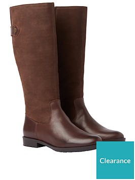 joules-canterbury-classic-knee-high-boot-with-elasticated-gusset-dark-brown