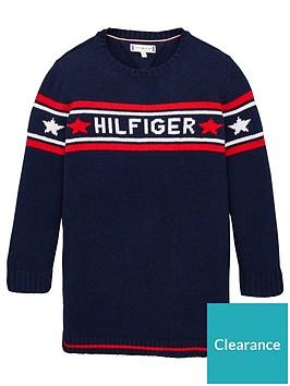 tommy-hilfiger-girls-logo-knitted-dress-navy