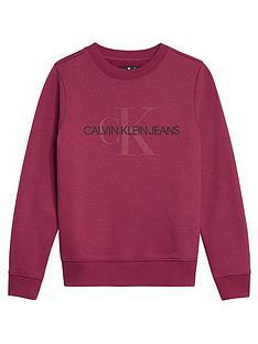 calvin-klein-jeans-girls-monogram-crew-neck-sweat-dark-pink