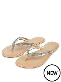 accessorize-danielle-double-strap-embellishednbspflip-flops-gold
