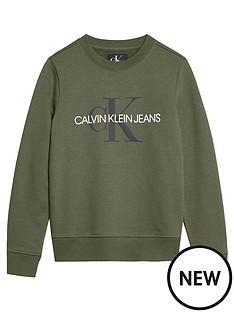 calvin-klein-jeans-boys-monogram-crew-neck-sweat-khaki