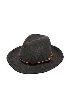 accessorize-buckle-trim-fedora-hat-grey