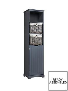 lloyd-pascal-burford-ready-assembled-painted-tall-bathroom-storage-unit-grey