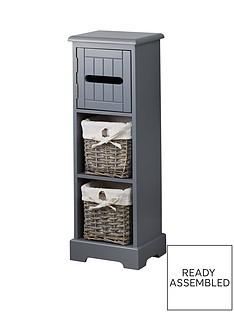 lloyd-pascal-burford-ready-assembled-painted-narrow-bathroomnbsp-storage-unit-grey