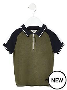 river-island-mini-mini-boys-blocked-zip-polo-shirt-khaki