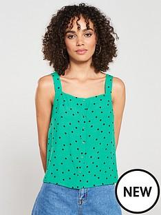 warehouse-spot-print-square-neck-cami-green-print