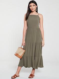 warehouse-tiered-midi-dress