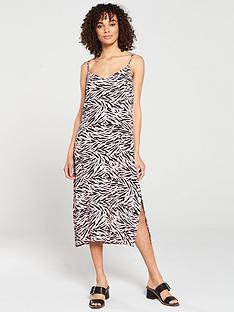 warehouse-tiger-print-cami-midi-dress-pinkblack-print