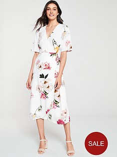 warehouse-flora-floral-wrap-midi-dress-ivory-print