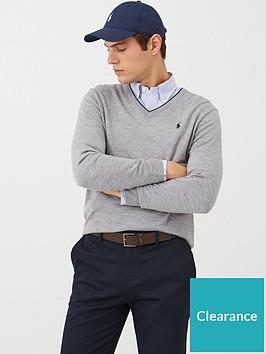 polo-ralph-lauren-golf-v-neck-contrast-trim-knitted-jumper-grey