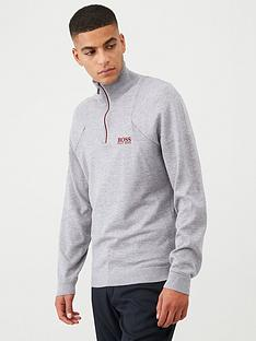 boss-golf-zon-pro-quarter-zip-sweatshirt-grey-marl