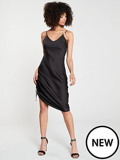 river-island-river-island-ruched-side-slip-dress-black