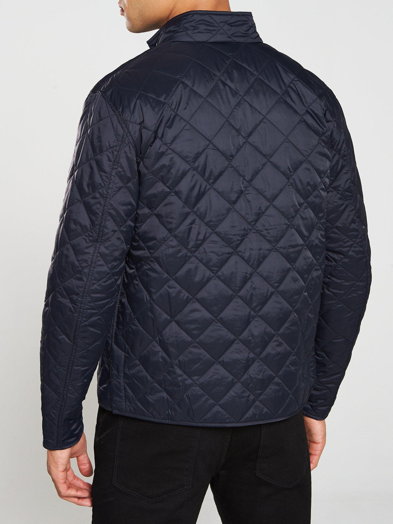 barbour international gear quilted jacket