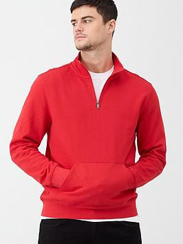 v-by-very-quarter-zip-funnel-neck-sweatshirt-red