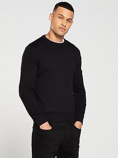 barbour-international-baffle-patch-crew-neck-sweater-black