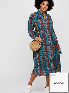 monsoon-curve-nagini-print-shirt-dress