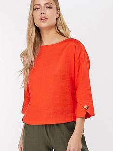 monsoon-adore-linen-t-shirt-red