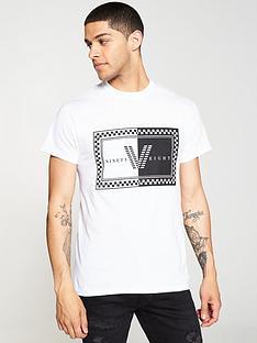 river-island-white-check-printed-t-shirt