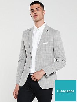 river-island-barry-cotton-check-skinny-blazer
