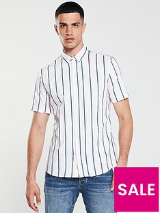 river-island-short-sleeve-pink-green-stripe-shirt