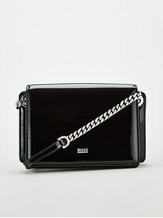 boss-casual-taylor-mini-patent-cross-body-bag-black